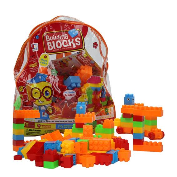 Kit Blocos De Montar Educativo Infantil 110 Peças Lego