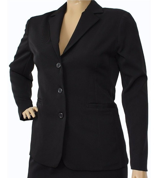 Blazer Social Forrado Two Way Marinho Especial Plus Size