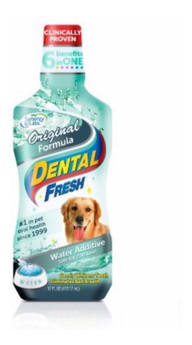 Dental Fresh Enjuague Bucal Perros Gatos Grande 17oz