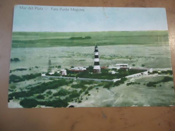 Postal Antigua De Mar Del Plata Faro