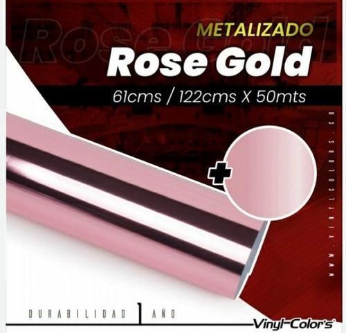 Imagen 1 de 3 de Cromado Metalizado Rosado, Vinyl Colors