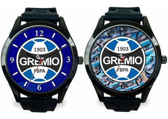Kit 2 Relógios Pulso Esportivo Grêmio Barato Masculino Novo