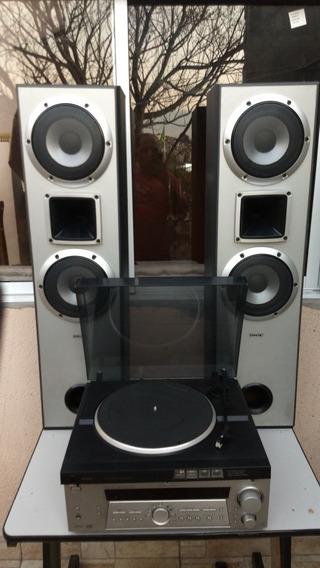 Conjunto Phono Receiver Sony De875 + Philips Fp310 + Torres