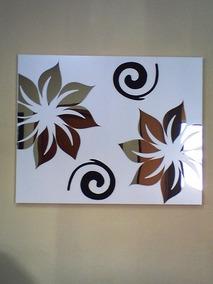 1m X 60cm Quadro Decorativo Abstrato Flores Sala Quarto