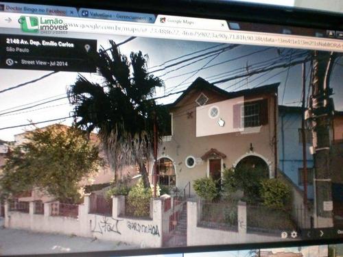 Terreno Na Av. Dep. Emilio Carlos Medindo 20,00 Frente Por 28,00 Fundos - Te0006