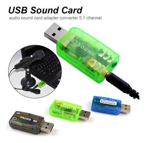 Imagen 1 de 4 de Tarjeta Sonido 5.1 Canales Adaptador Usb Audio Virtual 3d