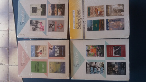 Lote 93-livro Seleções Readers Digest (4títulos Cada) Novo