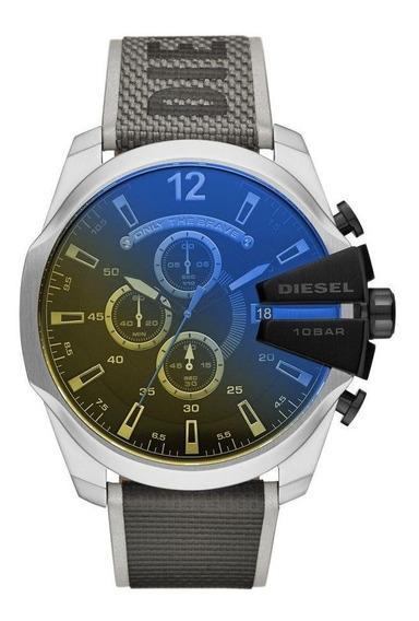 Relógio Masculino Diesel Mega Chief Prata Dz4523/8pn
