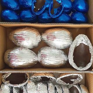 10 Cascas Para Ovos De Páscoa 500g Com Chocolate Garoto