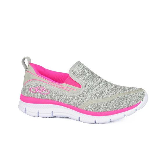 Tênis Olympikus Wellness Cinza Pink