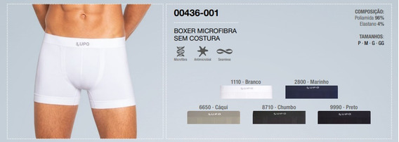 Kit/10 Cuecas Lupo Boxer S/costura Microfibra 0436-088 V