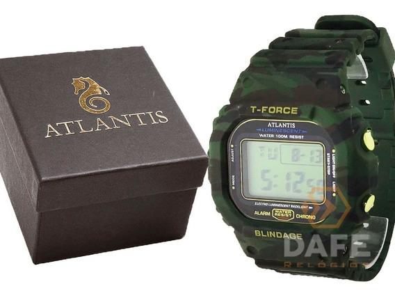 Relógio Atlantis 7305a Militar C/ Caixa E Nf