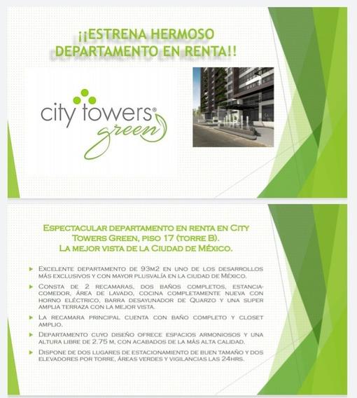 Departamento En Renta, City Tower Green *trato Directo*