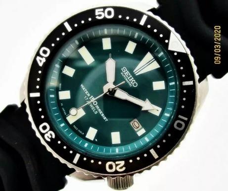 Seiko Diver 7002 7000 Clássico 95 Prata Esterlina 550494