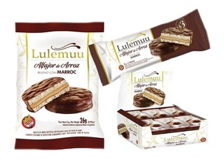 12u Alfajor De Arroz Lulemuu Marroc Y Chocolate - Sin Tacc