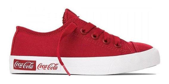 Tênis Coca Cola Basket Blend Canvas Vermelho Cc1687 Unissex