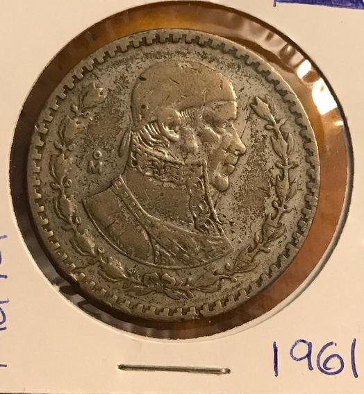 Coleccionable Moneda 1 Peso Morelos Plata .100 1961