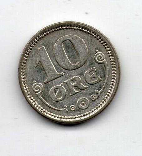 Dinamarca Moneda Plata 10 Ore 1916 Xf+ Km#818.1 - Argentvs
