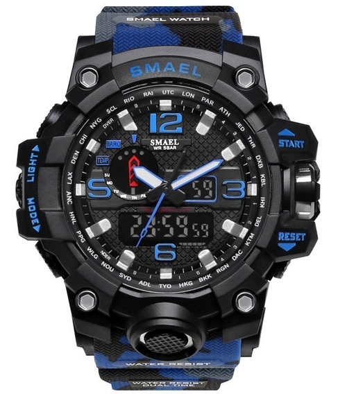 Relógio Militar Esportivo Digital Militar Smael 1545