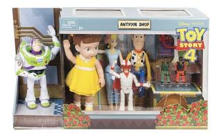 Set Toy Story 4 Disney Tienda De Antigüedades Con 8 Figuras