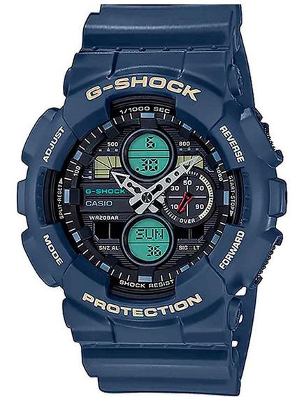 Relógio Casio G-shock Masculino Ga-140-2adr Diâmetro 51mm
