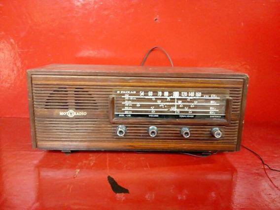 Antigo Rádio Moto Rádio Am 6 Faixa A Pilha E Energia Funcion