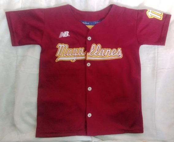 Camisa Original Vino Tinto Del Magallanes Para Niño Talla 8