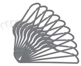 Cabides Em Veludo Kit Com 60 Para Camisa De Terno Preto Fino