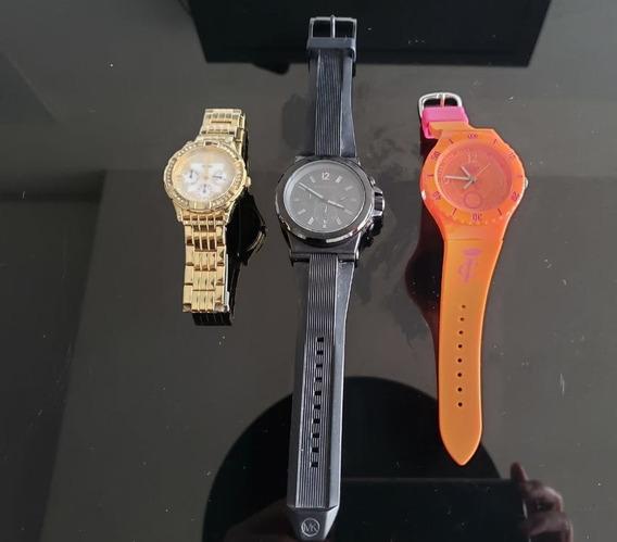 Relógio Juicy, Guess, Michael Kors. 3 C/ Preço De 1 + Estojo