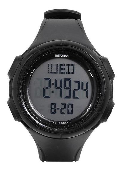 Relógio Pulso Digital Pretorian Pulseira Borracha Redondo