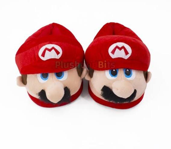 Hermosas Pantunflas Mario Bross Grandes Envio Gratis