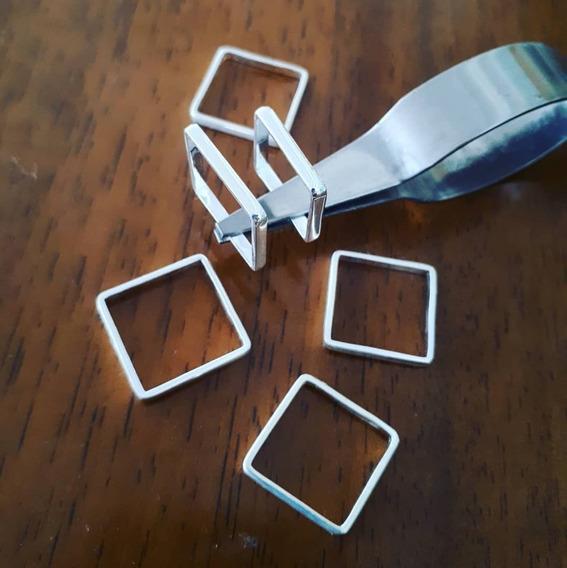 Anel Quadrado Em Prata 925 Quadradinho