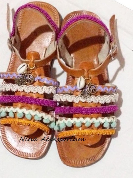 Sandália Rasteira Greek Sandals Customizada Hippie Chic