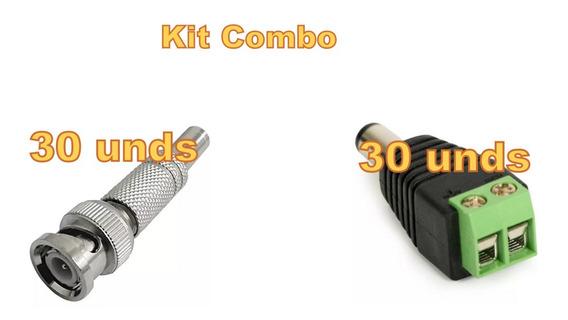 Kit Combo Conector Bnc E P4 30 Peças Cada. Alta Qualidade .