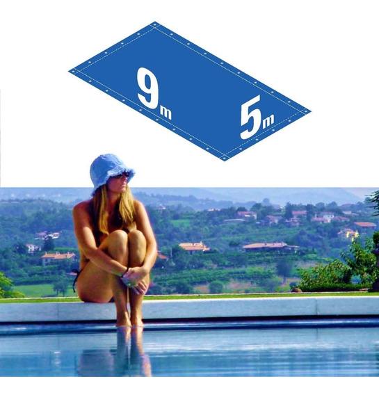 Capa Piscina 9x5 M Com Dreno E 28 Pinos Elásticos - Capakit