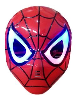 Mascara Homem Aranha Herois Vingadores Com Led