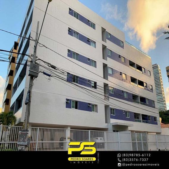 Apartamento Com 2 Dormitórios Para Alugar, 64 M² Por R$ 1.800/mês - Cabo Branco - João Pessoa/pb - Ap3255