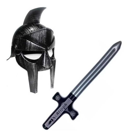 Disfraz Gladiador Hombre Casco Espada Halloween Fiesta
