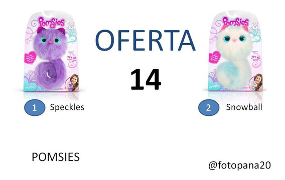 Pomsies Speckles Snowball Sherbert Peluche (ccs Y Val) V1413