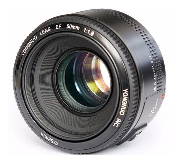 Lente Yongnuo 50mm F/1.8 Da Nikon C/motor De Foco