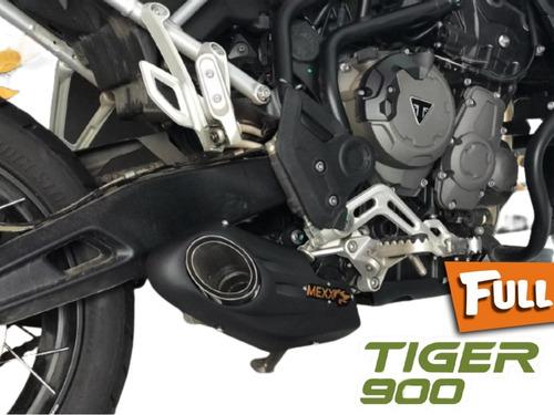 Imagem 1 de 9 de Escapamento Esportivo Full Mexx Tiger 900 Taylor Made