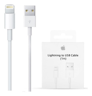 Cable Cargador Datos Original Apple iPhone 5 5s 6 7 Plus 1mt