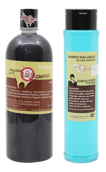 2 Shampoo Del Caballo, Negro Y De Hombre Yeguada Reserva