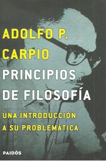 Libro Nuevo Principios De Filosofia. Adolfo P. Carpio