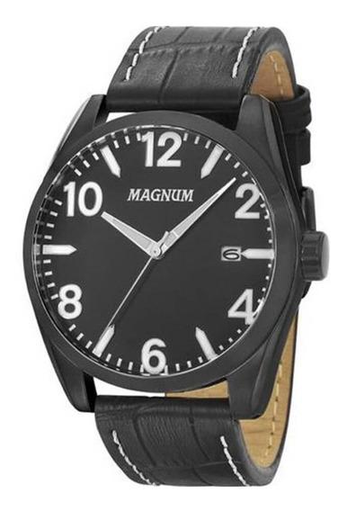 Relógio Masculino Magnum Pulseira Em Couro Original