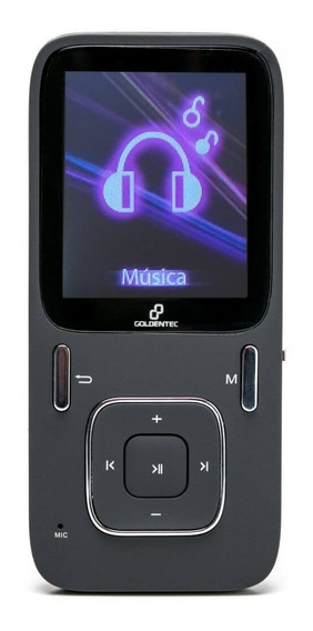Mp4 Player 8gb Lcd 1.8 Goldentec Sport A1809 Preto