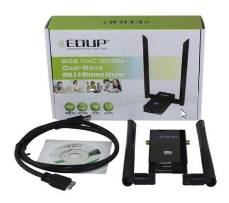 Adaptador Wi-fi 1200 Mbps Profissional Com 2 Antenas Alto