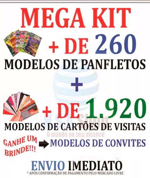 Panfletos + Cartões De Visitas Corel Draw Modelos Editáveis