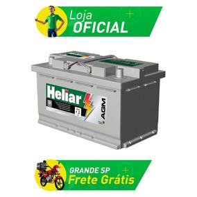 Bateria De Carro Heliar Agm - 80 Amperes - Ag80kd