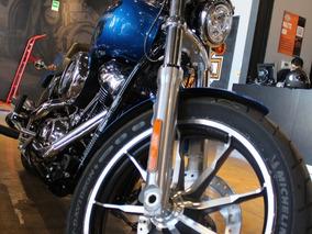 Harley-davidson Low Rider 107 2018 Azul Electrico